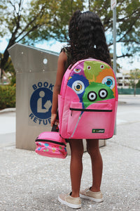 Monster Squad Backpack (pink)