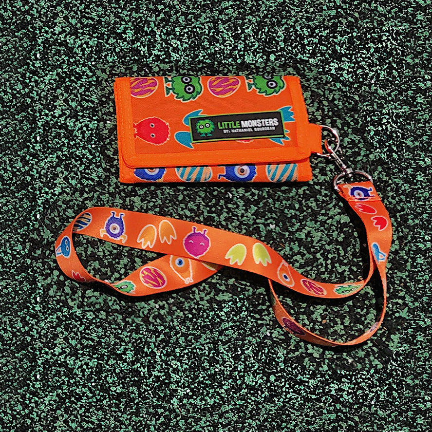 Wallet/Lanyard Combo: Orange