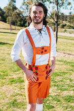 Load image into Gallery viewer, The Jörg | Orange lederhosen and vest