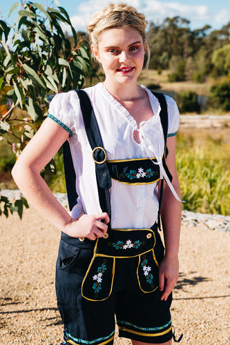 The Gertrud | Black Lederhosen