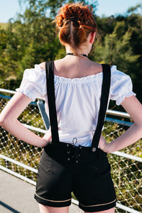 The Adelheid | Premium Black Lederhosen