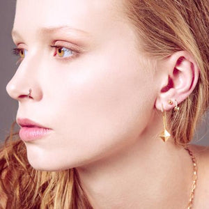 Octahedron Hook Earrings