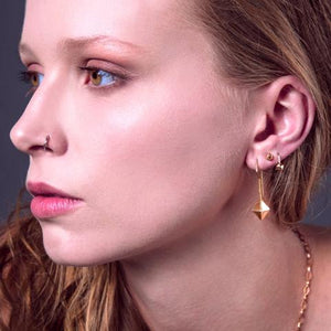 Icosahedron Hook Earrings