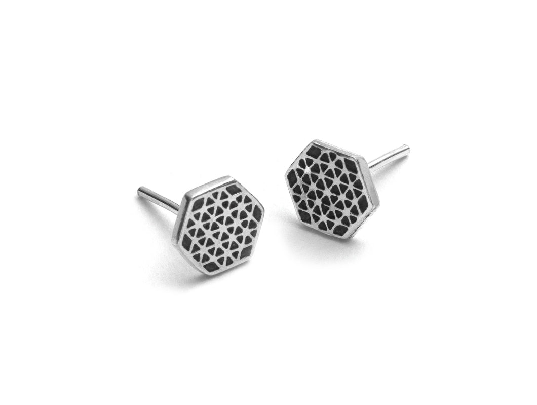 Hexagon Flower Of Life Studs
