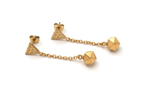 Icosahedron Drop Earrings