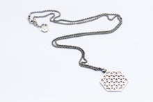 Load image into Gallery viewer, Hexagon Flower of Life Necklace
