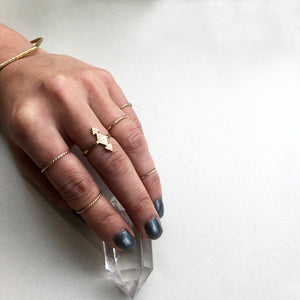 Delicate hammered stacking ring
