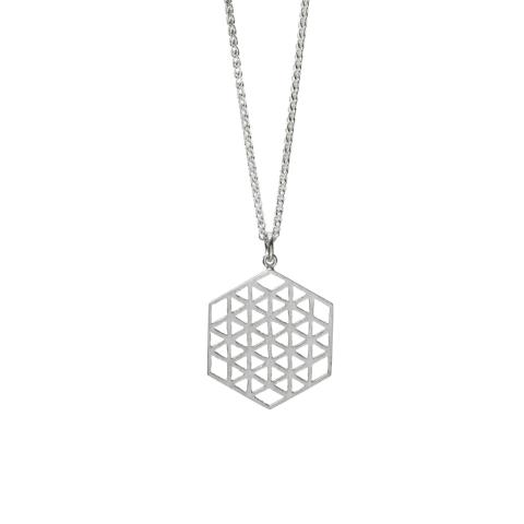 Hexagon Flower of Life Necklace