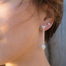 Load image into Gallery viewer, Octahedron Drop Earrings