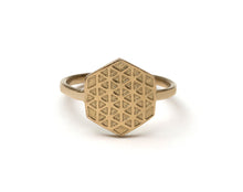 Load image into Gallery viewer, Hexagon Flower of Life Ring