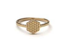 Load image into Gallery viewer, Hexagon Flower of Life Ring (s)