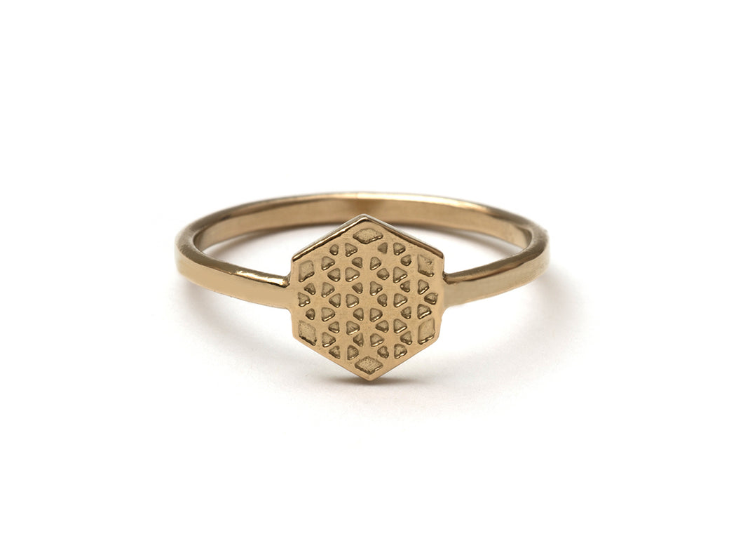 Hexagon Flower of Life Ring (s)