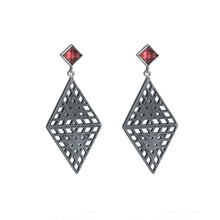 Load image into Gallery viewer, Amplify Garnet Earrings