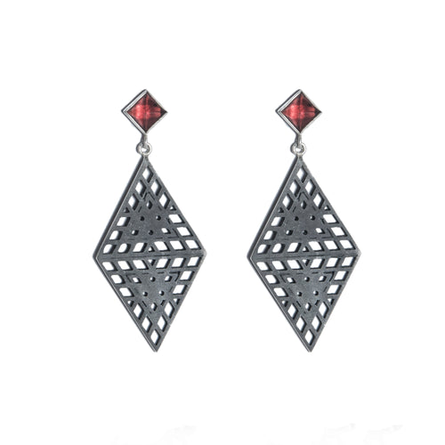 Amplify Garnet Earrings