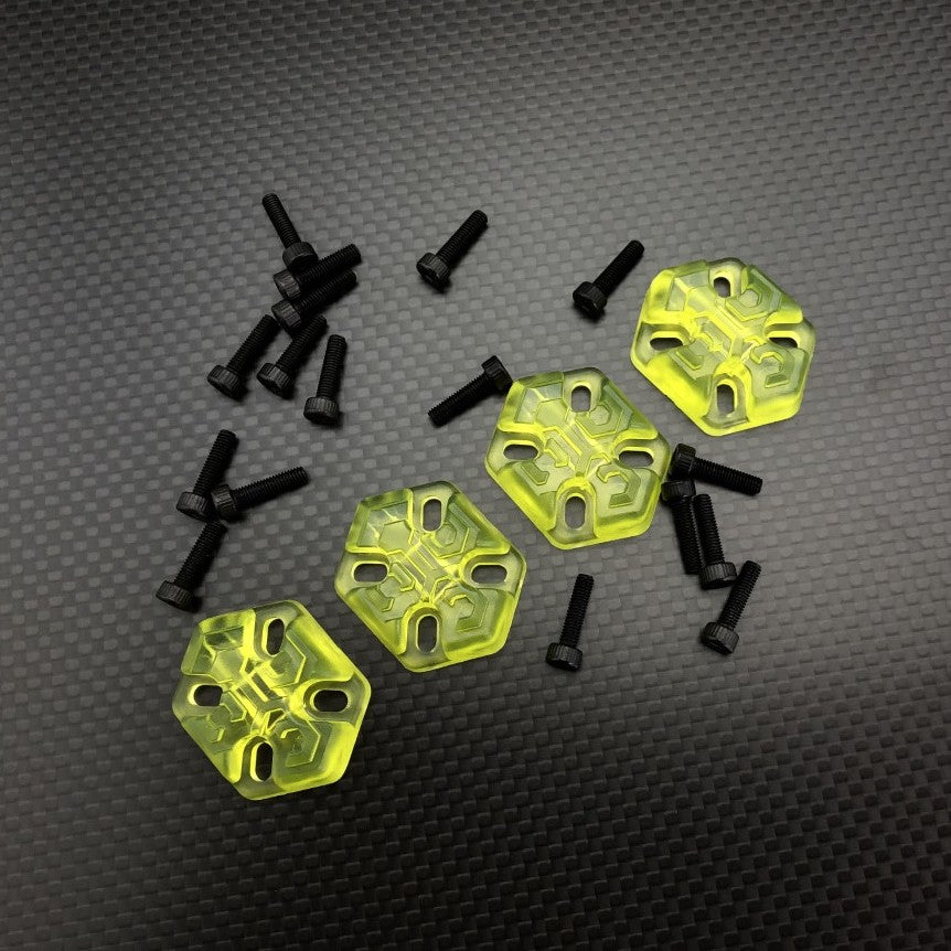 FPVCrate Lume Skids Clear Lime Yellow (Pack of 4)