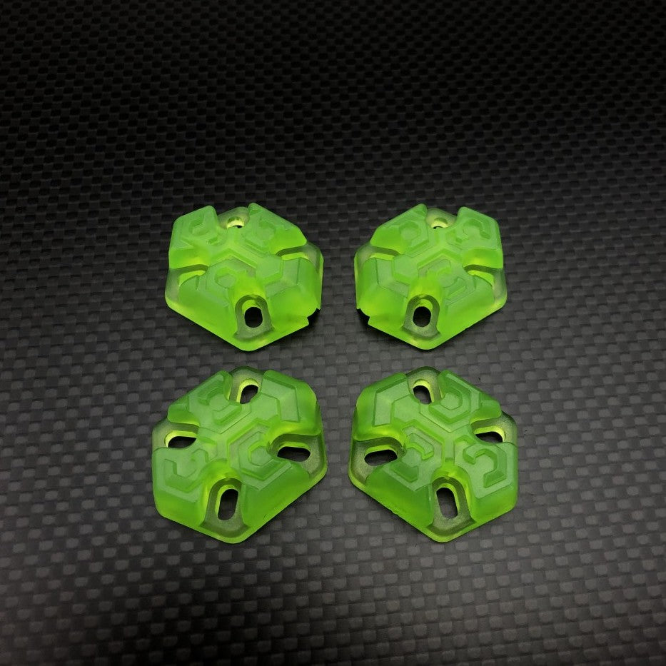 FPVCrate Lume Skids Clear Green (Pack of 4)