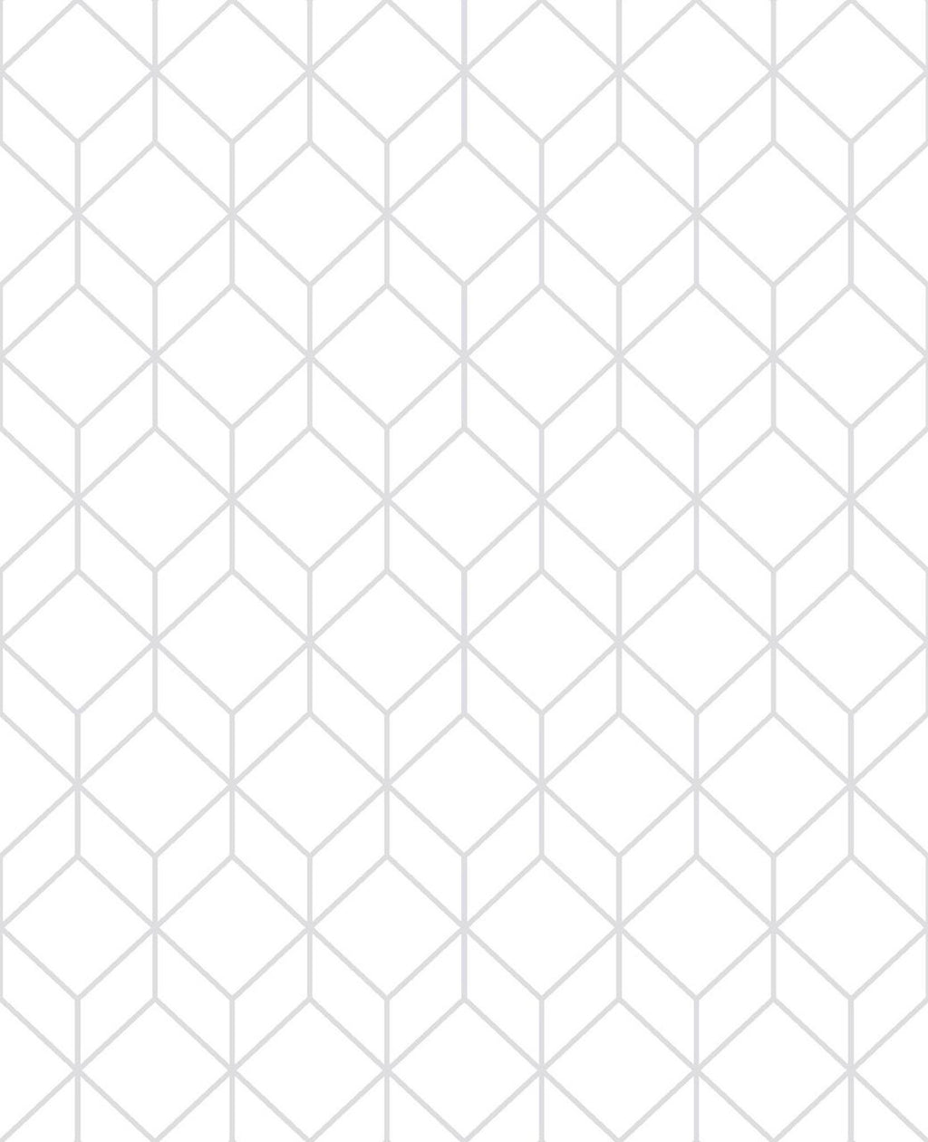 Myrtle Geo White Wallpaper