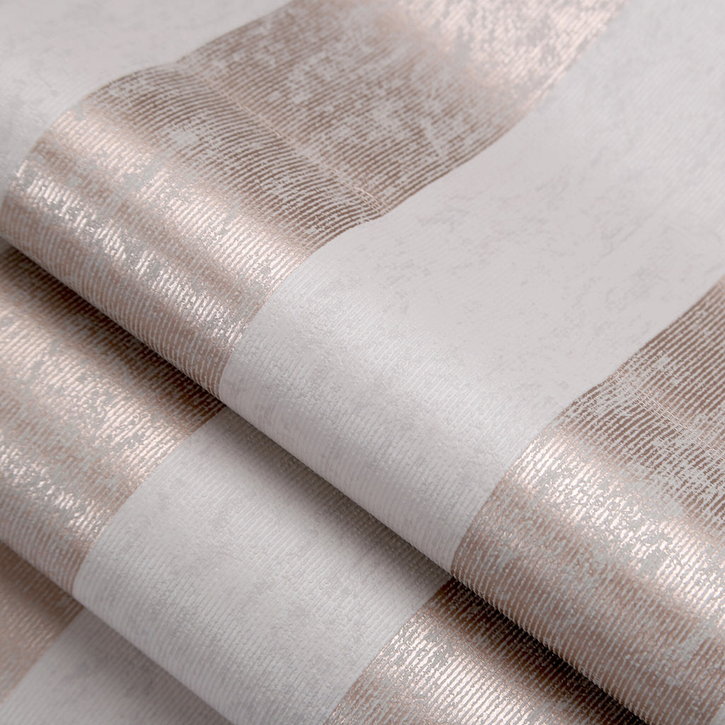 Mercury Stripe Rose Gold Wallpaper