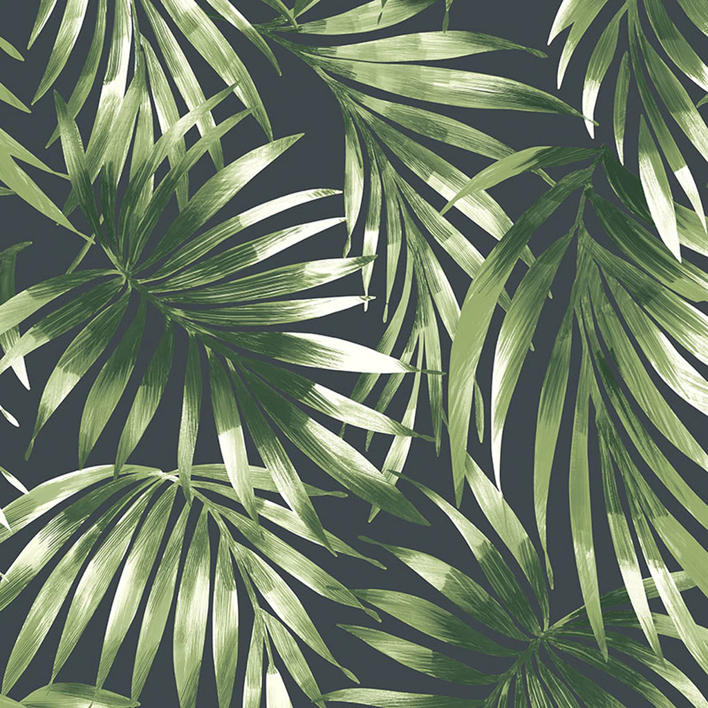 Elegant Leaves Green Wallpaper