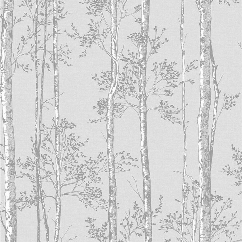 Branches Grey Wallpaper
