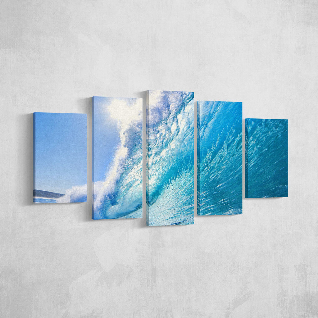 Blue Wave _5 Piece Split Canvas