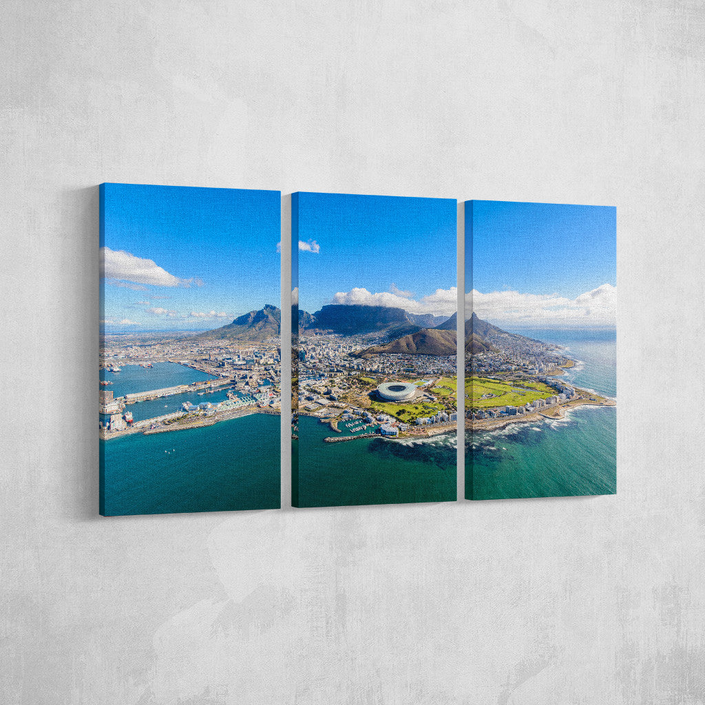 Cape Town from above _3 Piece Split Canvas