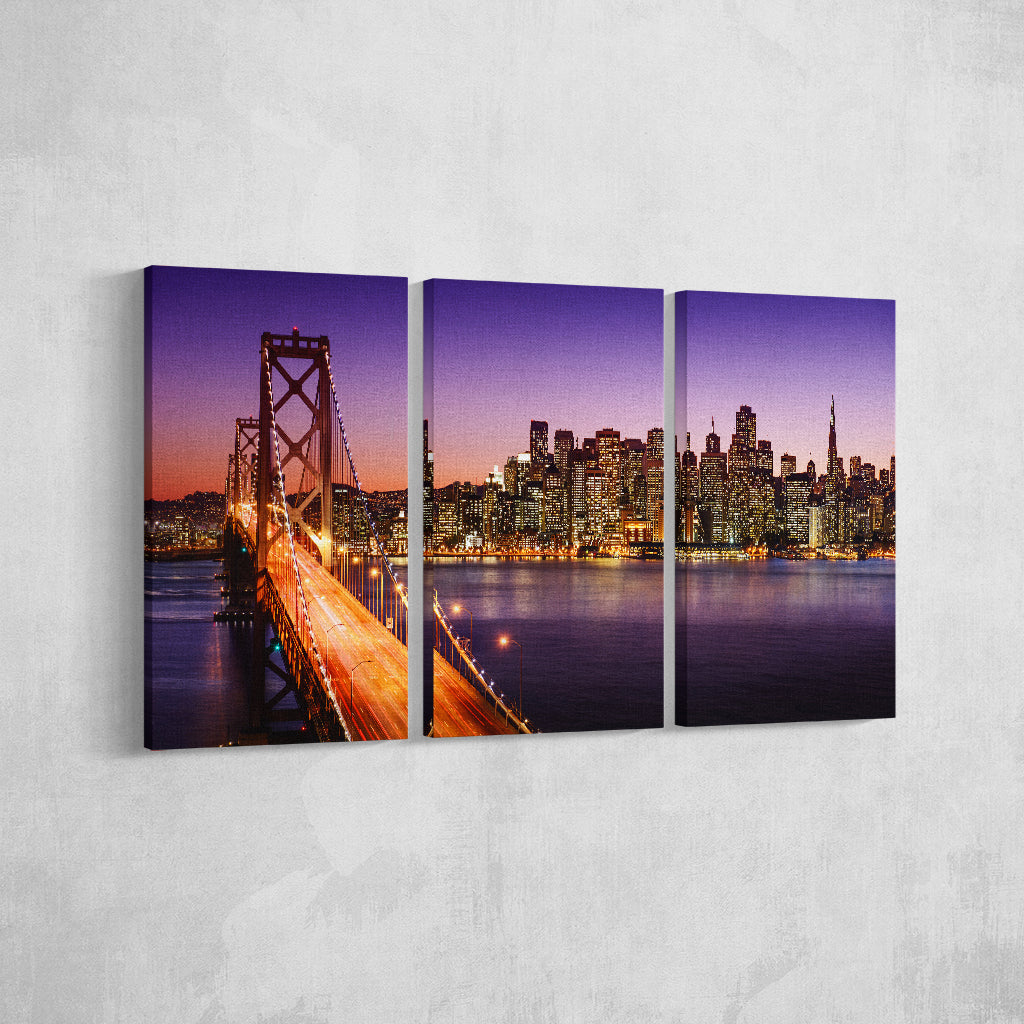 City Bridge _3 Piece Split Canvas
