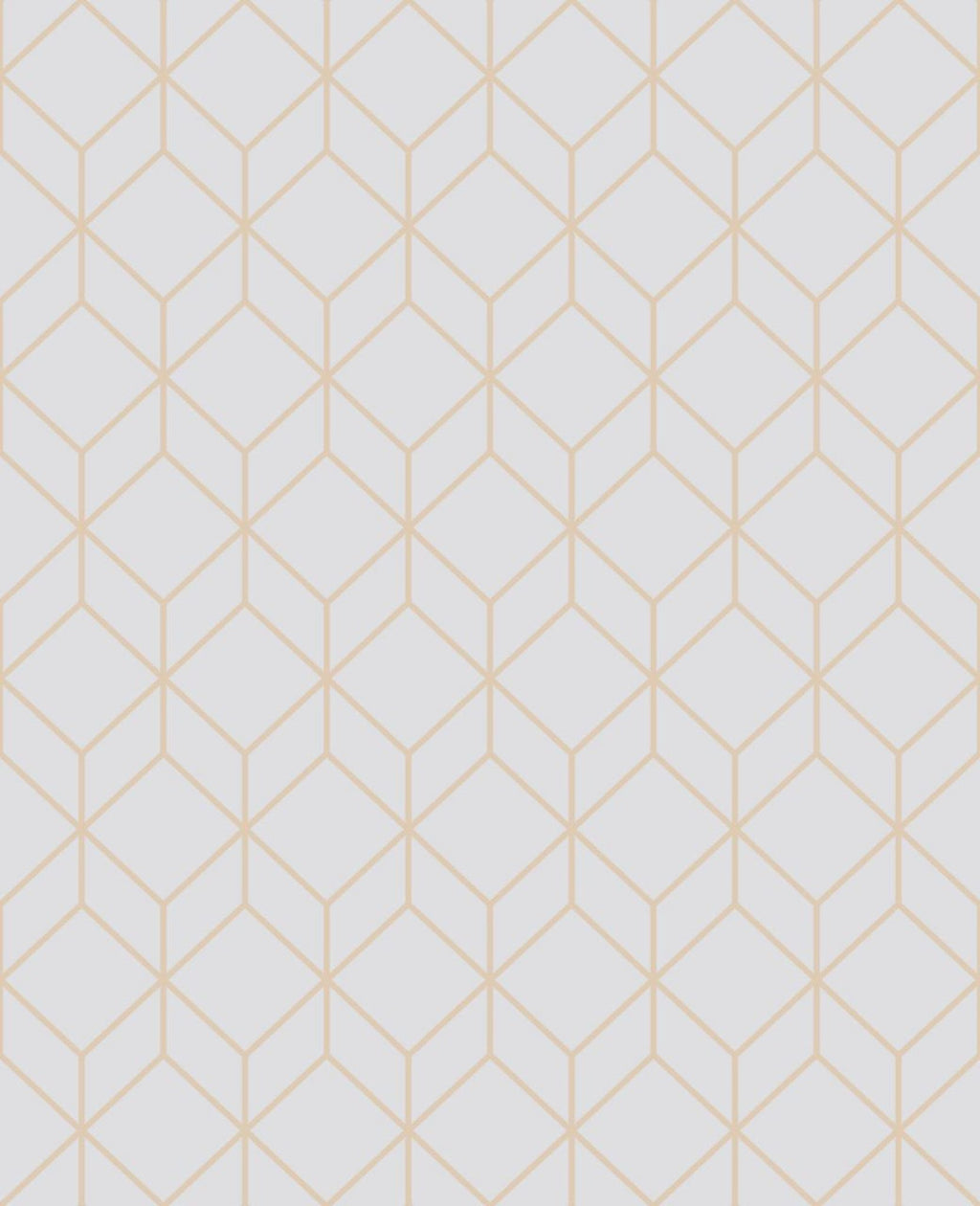 Myrtle Geo Grey & Copper Wallpaper