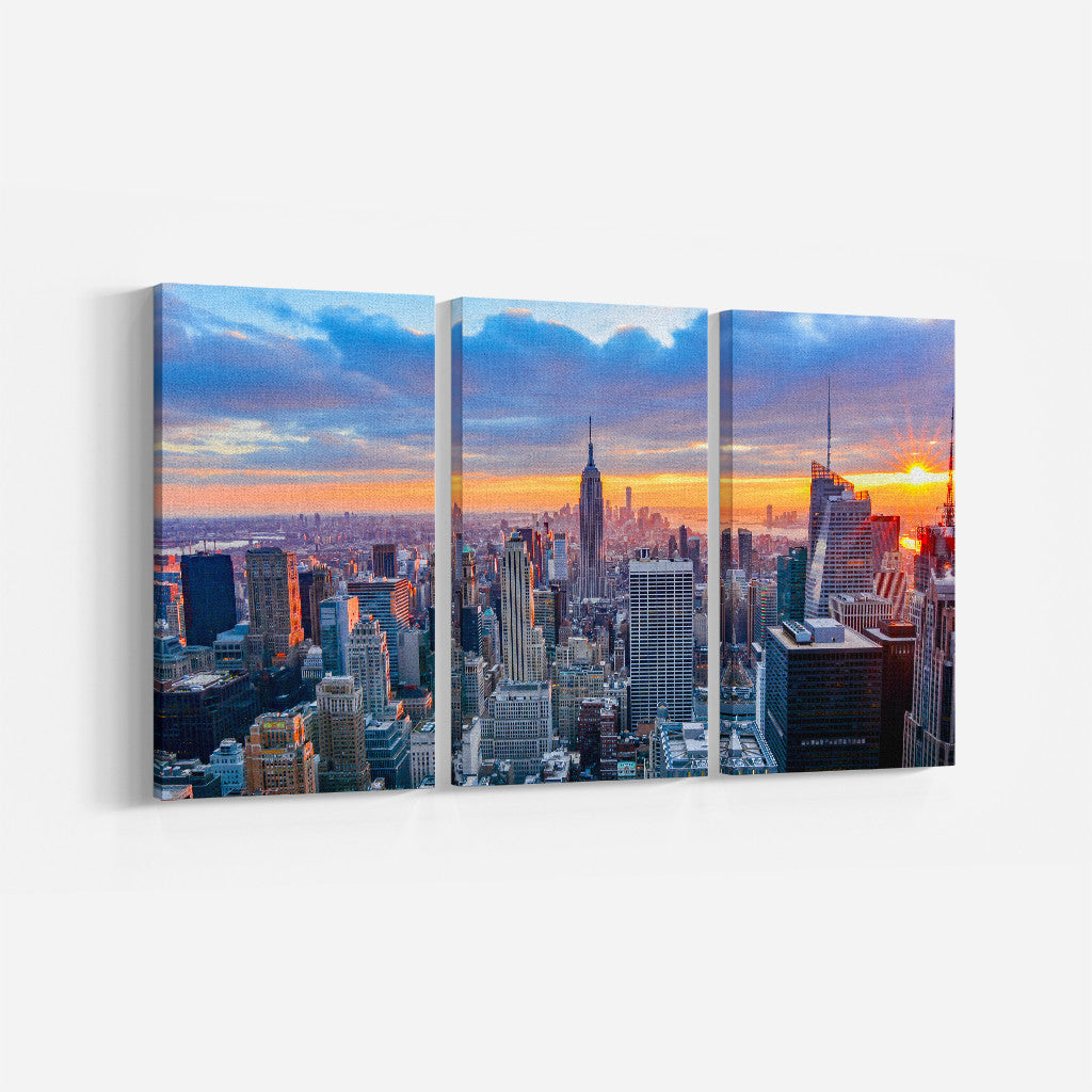 New York _3 Piece Split Canvas