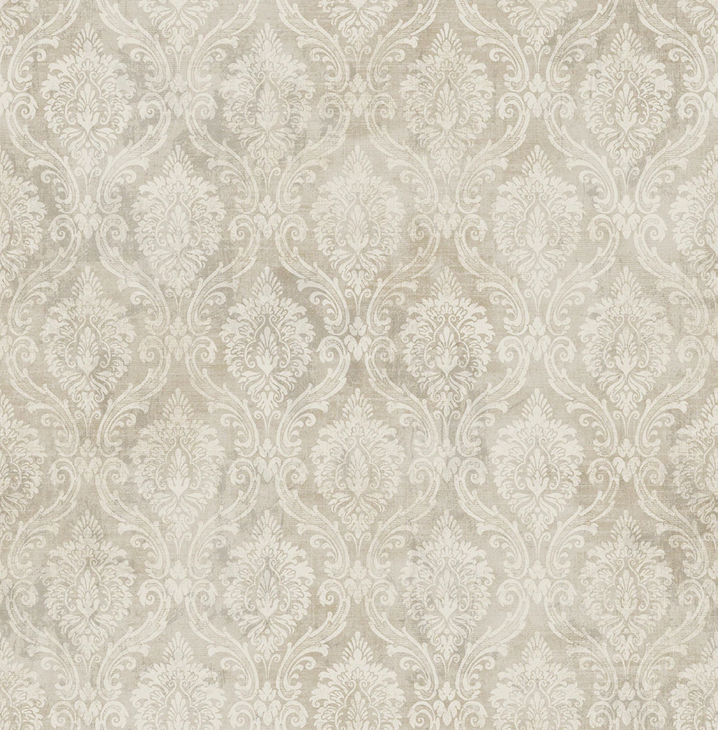 Tekapo Stone Damask Wallpaper