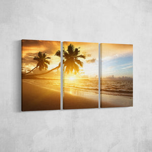 Tropical Sun_3 Piece Split Canvas