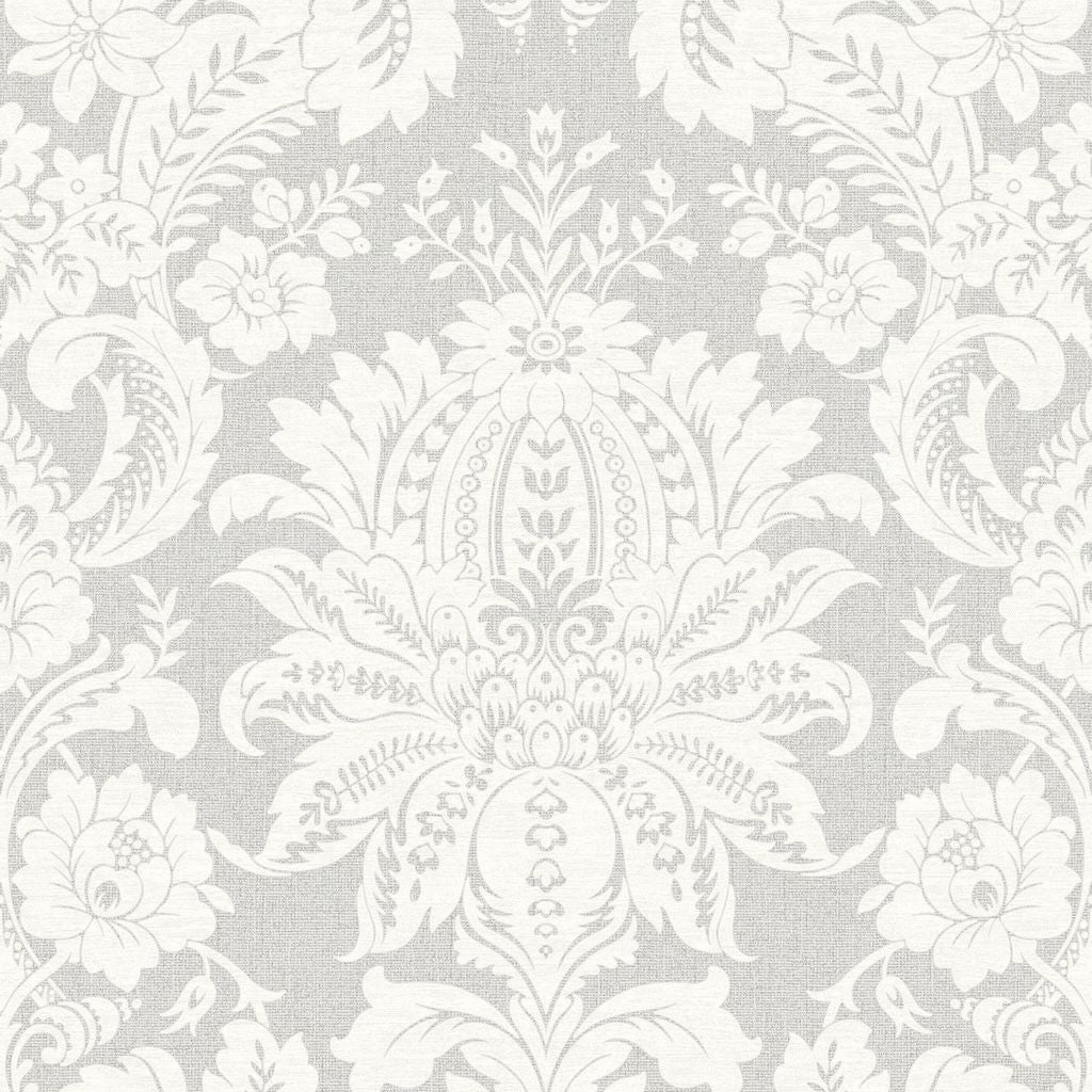 Venetian Damask Grey Wallpaper