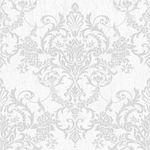 Victorian Damask Silver Wallpaper