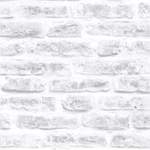 White Realistic Brick Wallpaper