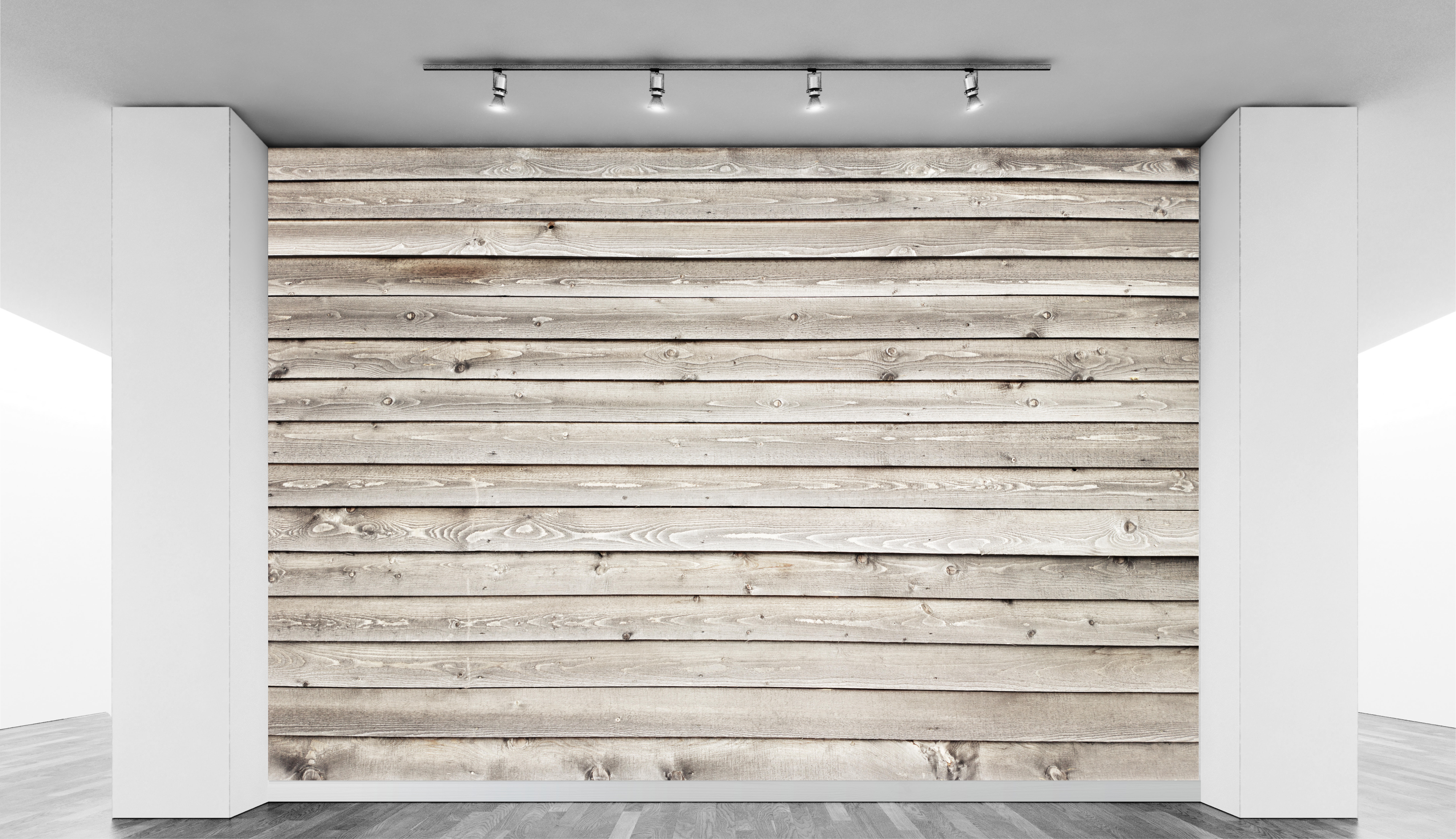 Wooden slat wall