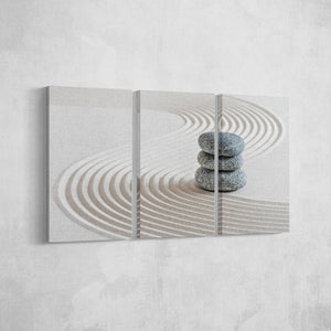 Zen Sand_3 Piece Split Canvas