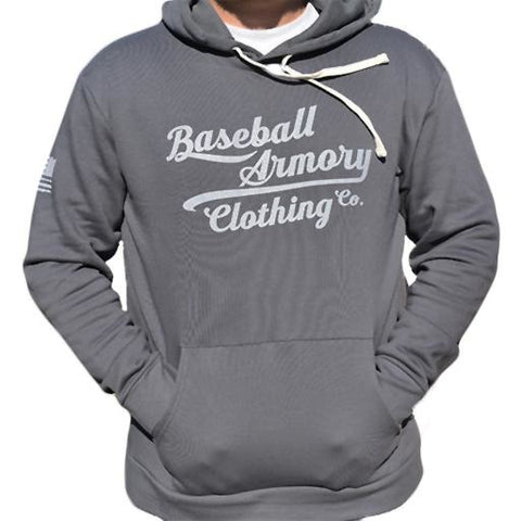 Throwback Fleece Hoodie Heavy Metal - Baseball Armory Clothing Co.