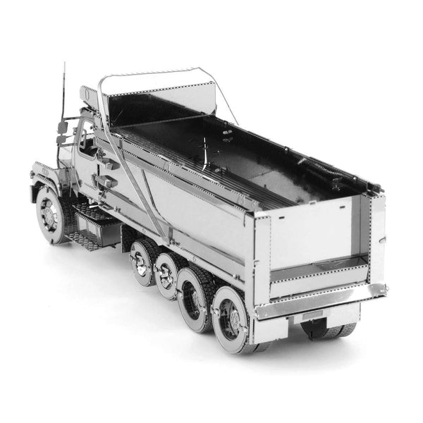 Metal Earth - Freightliner - 114SD Dump Truck rear view.