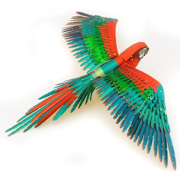 Metal Earth Iconx Parrot Jubilee Macaw