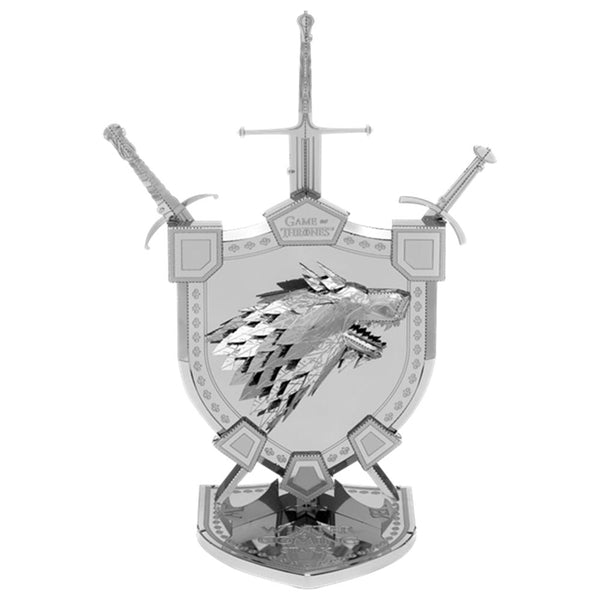 Metal Earth Iconx Game of Thrones House of Stark assembled model