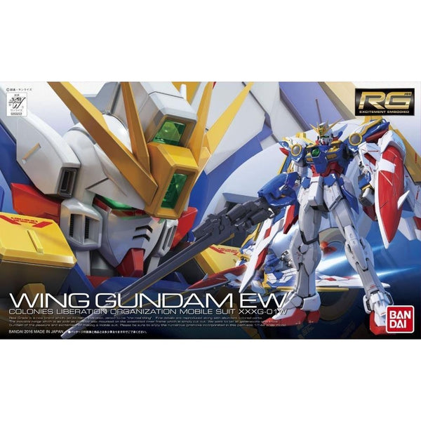 Bandai 1/144 RG XXXG-01W Wing Gundam EW package art