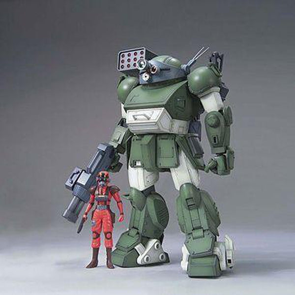 Bandai 1/20 ATM-09-ST Scopedog Berkhoff Squad Custom front on with figure