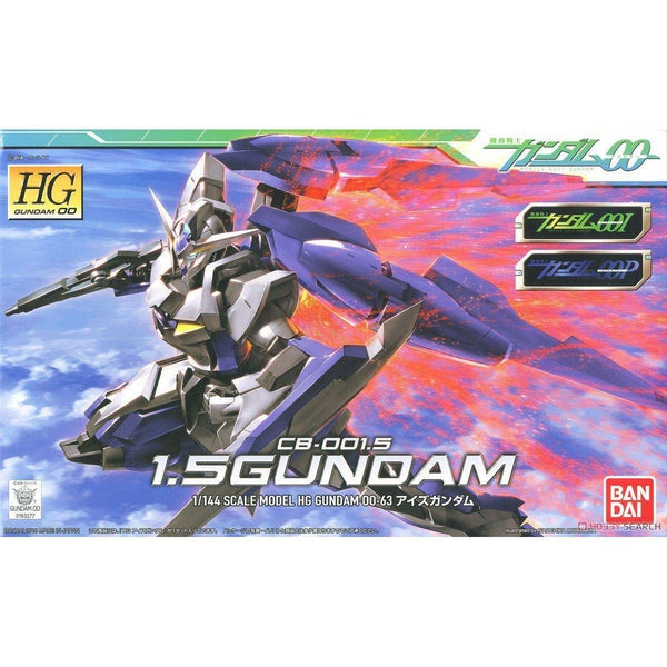 Bandai 1/144 HG00 1.5 Gundam package art