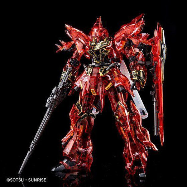 P-Bandai 1/144 RG Sinanju [Clear Colour] Event Limited front on pose