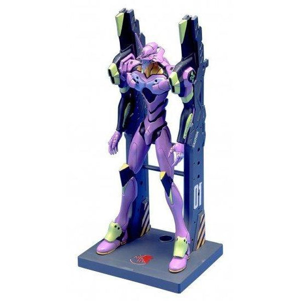 Bandai EVA-01 Test Type With Frame (LM-HG) front on pose on launch pad