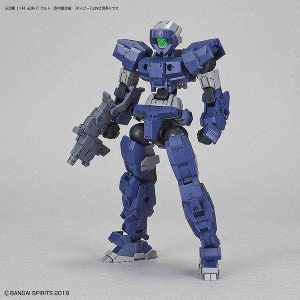 Bandai 1/144 NG 30MM EEXM-17 Alto Flight Type (Navy) front view no backpack