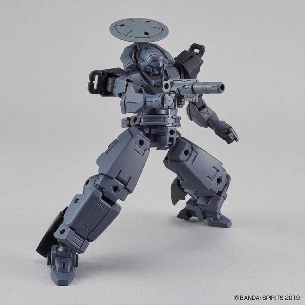 Bandai 1/144 NG 30MM BEXM-14T Cielnova (Dark Grey) action pose with weapon.
