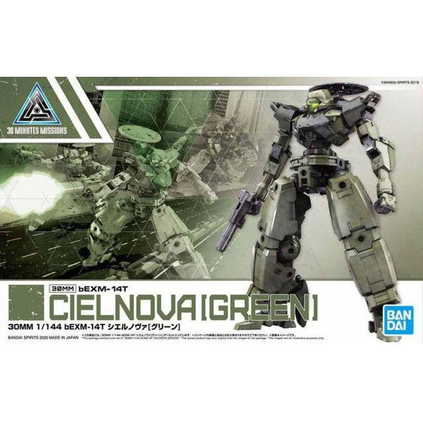 Bandai 1/144 NG 30MM BEXM-14T Cielnova (Green) package artwork