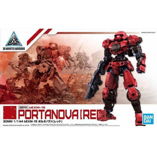 Bandai 1/144 NG 30MM BEXM-15 Portanova (Red) package art