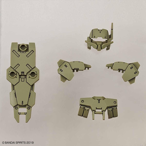 Bandai 1/144 NG 30MM Close Quarters Battle Option Armour for Alto (Dark Green) whats included